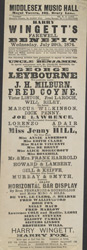 Poster advertising the Middlesex Music Hall 578